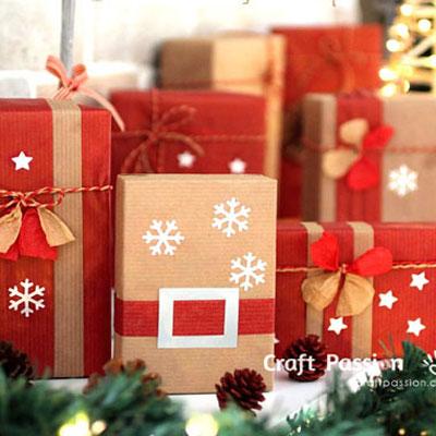 Santa belt - gift wrap