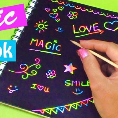 DIY Fun magic notebook - easy back to school craft