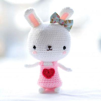 Sweetheart bunny - free amigurumi pattern