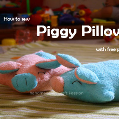 DIY Adorable piggy pillow (free sewing pattern)