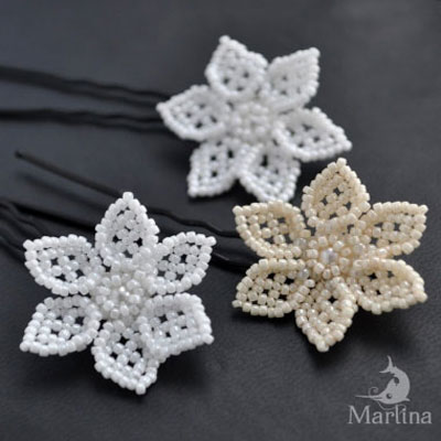 Easy elegant bead flowers (beading pattern)