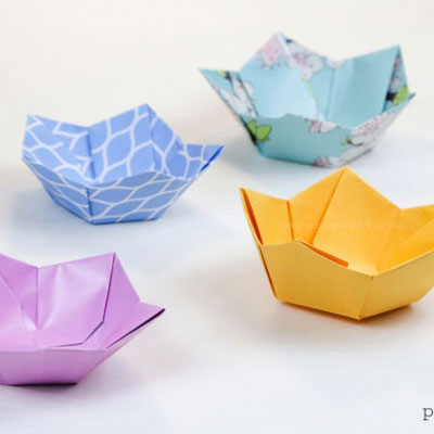 How to make lavender paper flower | Easy origami flowers for ... | 400x400