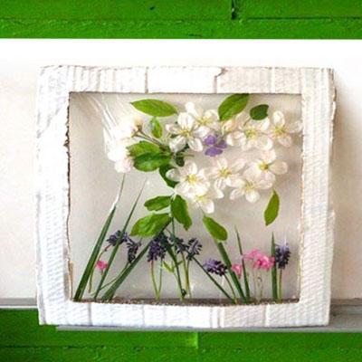 DIY Spring flower artwork - easy spring kids craft project