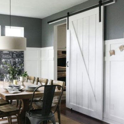 Simple DIY barn door tutorial ( with free plan )