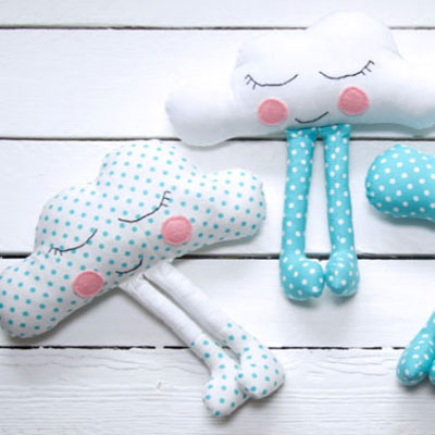 Cute cloud baby toy (free sewing pattern)