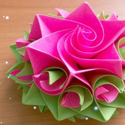 DIY Amazing paper rose - origami flower gift topper