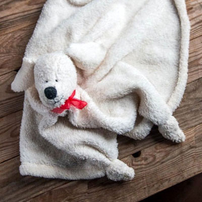 Adorable puppy baby binkie / blankey (free sewing pattern)