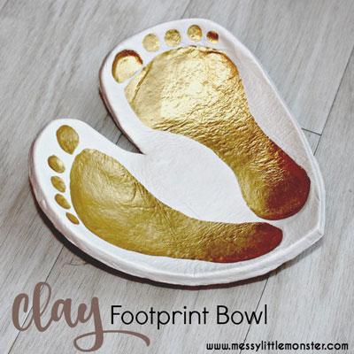 DIY Clay footprint bowl keepsake