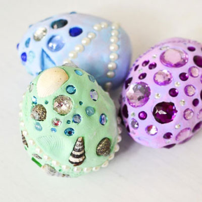 How to make fantasy dragon eggs - kids craft idea