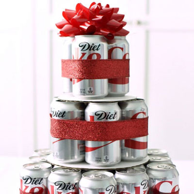DIY Diet Coke cake (or beer cake) -  birthday gift idea