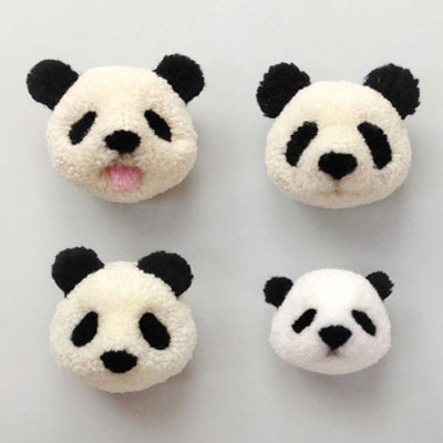 How to make a pompom panda - yarn animals
