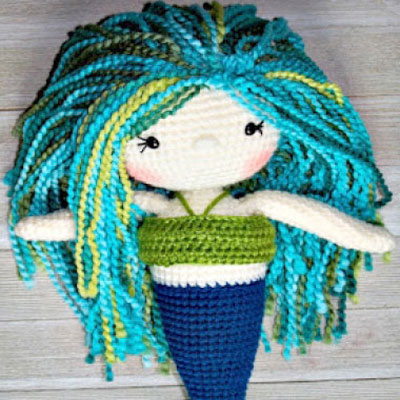 Adorable amigurumi mermaid dolls ( Ariel ) - free crochet pattern