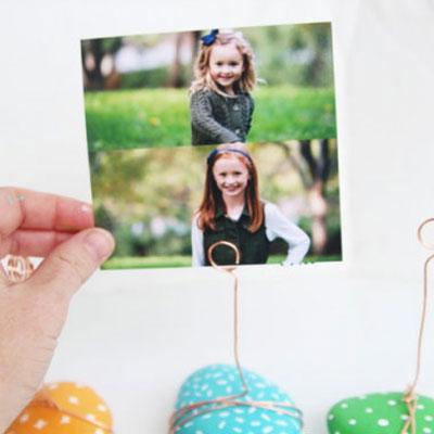 DIY Rock photo holders