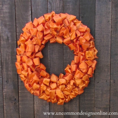 Easy DIY ribbon wreath (how to make a ribbon wreath)