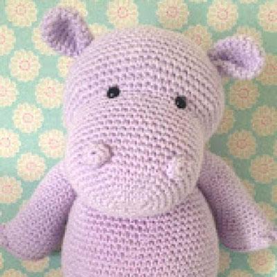Happy hippo - free crochet ( amigurumi ) pattern
