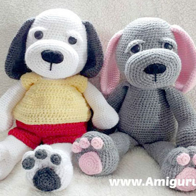 Cuddle me puppy - free amigurumi dog toy pattern