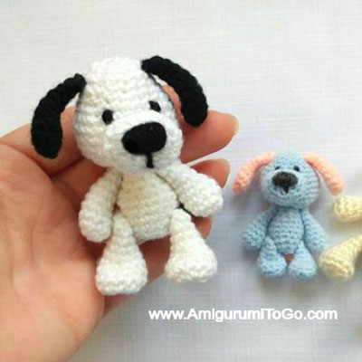 Miniature amigurumi puppy - free crochet dog pattern