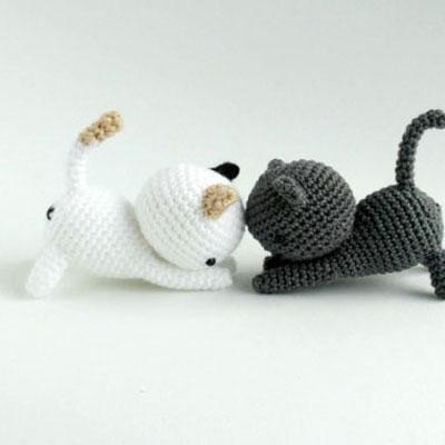 Free adorable amigurumi kitten pattern - crochet cat