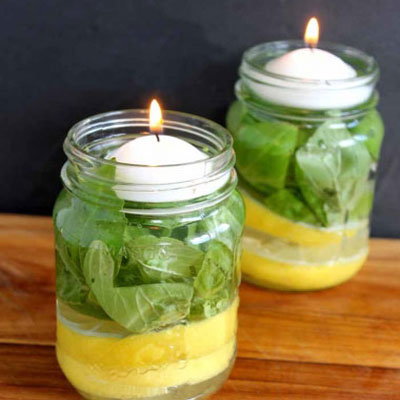 DIY Easy and natural mosquito repellent candles