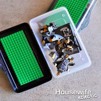 DIY Road trip lego box - summer toy idea for kids