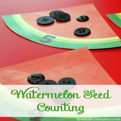 Watermelon seed counting activity for kids (free printable)