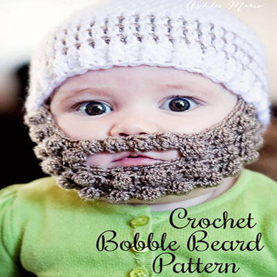 Crochet bobble beard