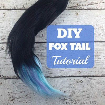 Fox tail from yarn