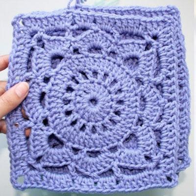 Easy crochet lace (granny) square  - video crochet tutorial