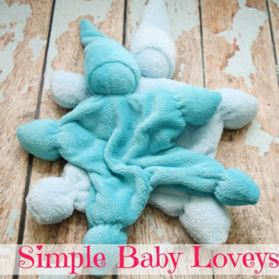 DIY Simple and adorable baby lovey - sewing for beginners
