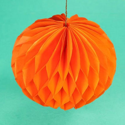 DIY Honeycomb balls - easy party decor with tissue paper