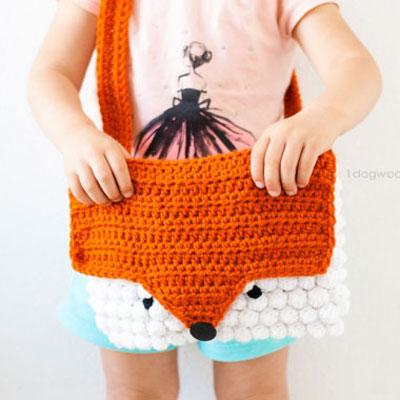 Adorable crochet fox bag - free crochet pattern
