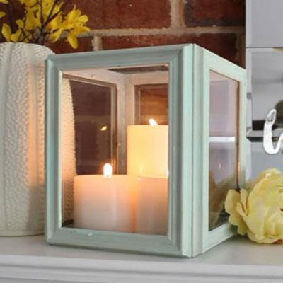 DIY Easy and frugal vintage style frame lantern