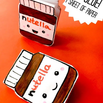 DIY super cute (kawaii) mini nutella notebook