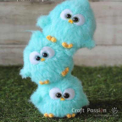 Furry crochet Angry Birds nestlings - free amigurumi pattern