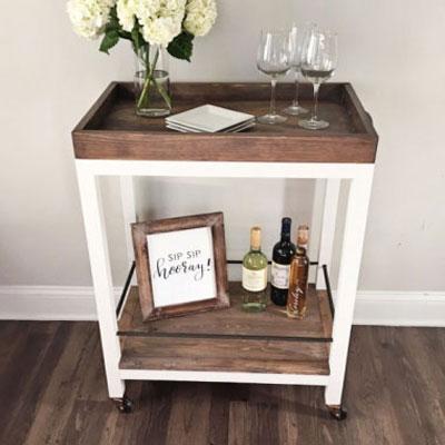 DIY Vintage bar cart (free woodworking plan)