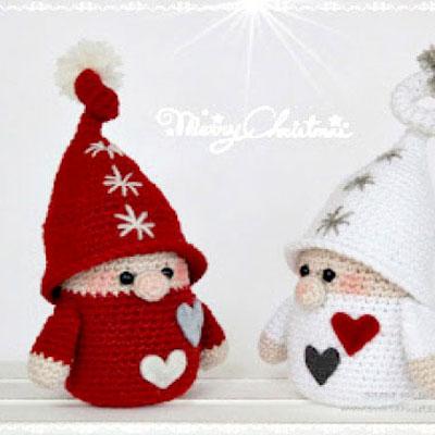 Amigurumi Christmas gnomes ( free crochet pattern )