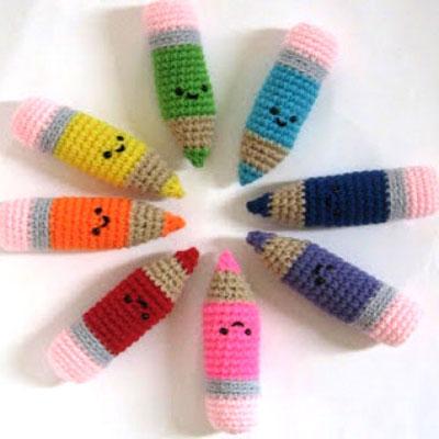 Kawaii amigurumi pencils (free crochet pattern)
