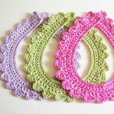 Crochet collar necklace ( free crochet pattern )