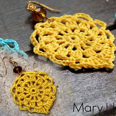 Easy crochet earrings ( video crochet tutorial )