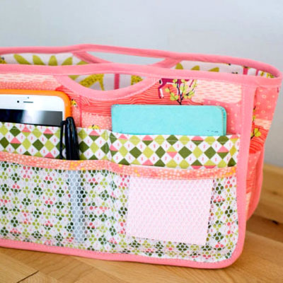 DIY Purse organizer ( free sewing pattern )