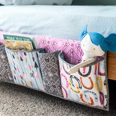 Bedside pockets organizer - free sewing tutorial