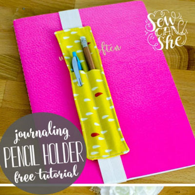 Pencil holder bookmarks (free sewing pattern)
