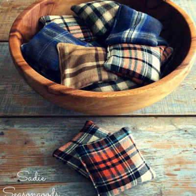 Flannel scrap reusable hand warmers