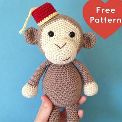 Amigurumi monkey with hat (free amigurumi pattern)