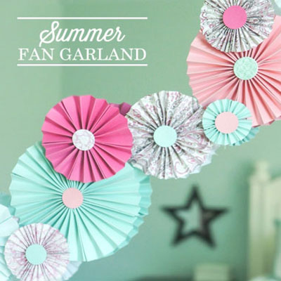 DIY Easy paper fan garland - party decor