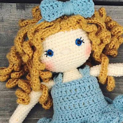 Crochet doll PATTERN | amigurumi doll pattern | stuffed doll ... | 400x400