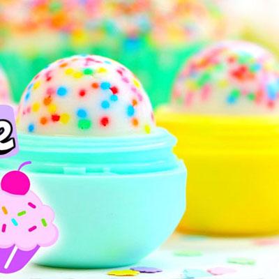 Handmade cupcake EOS lip balm