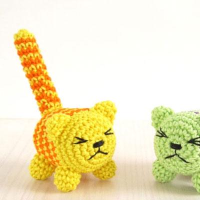 Baby rattle amigurumi cat toys ( free crochet pattern )