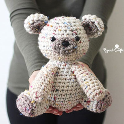 Bruno the Grizzly Bear amigurumi pattern, crochet pattern. Design ... | 400x400