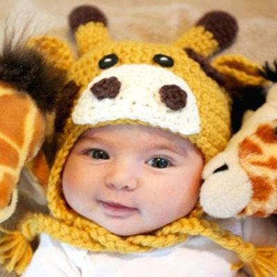 Crochet giraffe hat for kids ( free crochet pattern )